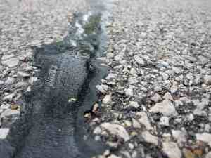 Road features made of tar.