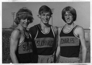 Paul Morlock (at center) is a lifelong runner as well.
