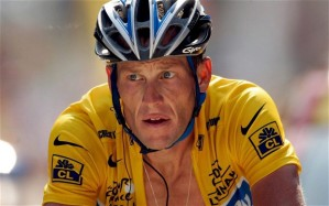 Sit back and relax now Lance. Don't be so angry. You'll hurt your back. From the UK Telegraph. Lance Armstrong.