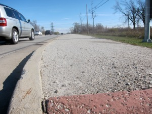 The edge of the road is too often a battle zone for space.