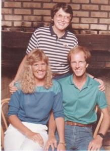 Linda and Christopher Cudworth with Terri Hemmert of WXRT, circa 1984