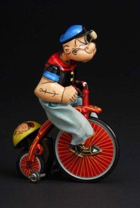 Popeye on bike