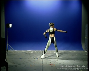Kerri Branson rehearses for her role as Sonya Blade in Mortal Kombat