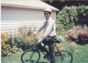 I was dorky but committed in the early riding days.