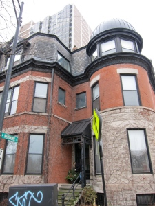 This Chicago 2-flat at 1764 N. Clark, right on Lincoln Park, was a  training base for 1.5 years.