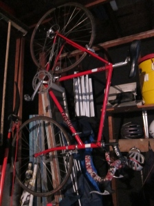 The red Trek 400 that launched two riders' cycling habits.