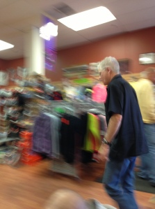 Glen Kamps is in almost constant motion serving customers and getting to know everyone who comes through the store.
