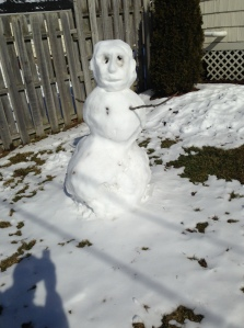 The Existential Snowman had a lot to say. Without saying much.