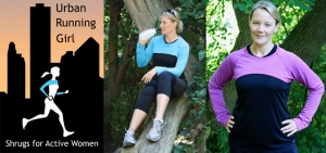 Shrugs from Urban Running Girl fit over the shoulders and offer rollable cuffs to cover the hands on really cold days.