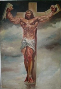 Jesus and Arnold apparently had a lot in common, according to some artists.