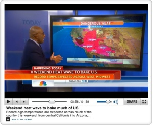 With record temperatures becoming commonplace, we all need a heat strategy.  Even Al Roker.