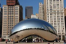 The Bean, or Cloud Gate as it is really called, brings Chicagoans entertainment in Millennium Park