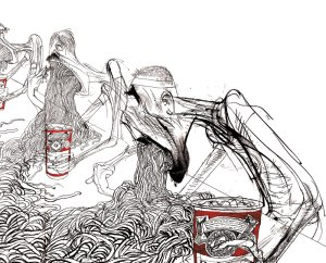 Art by Ralph Steadman.