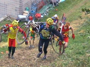 The sport of cyclocross has been known to produce a few zombies.