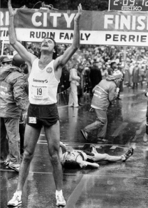 One of the greatest New Zealand marathoners was Rod Dixon, whose unique stride was a hallmark of his running.
