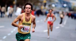 I raced for two mlles of a 5-mile race with Alberto Salazar. Then he dumped me on the way to victory. But I tried.