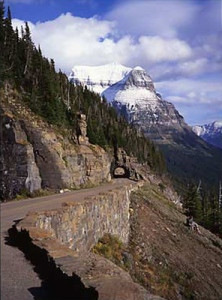 Going to the Sun Road traverses one of the most beautiful mountain passages on earth.