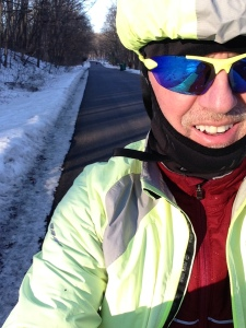Dork alert. But hey, I don't care. It was cold outside. But good for riding!