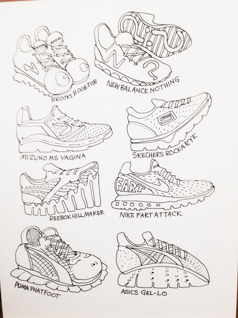 skechers shoes drawing