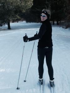Sue Astra skiing