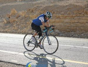 Long cycling events can start in the forested mountains of Israel and wind through rocky deserts