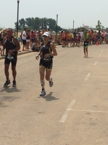 13.1 miles is a long way to run after a mile of swimming and 56 miles of biking under 3 hours.