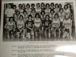 The Luther Cross Country team circa 1975 included the first two women to compete at the college level.