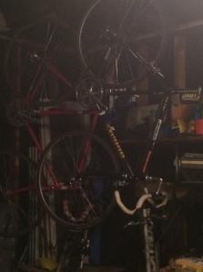 Bikes hanging