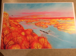 This print by Douglas Eckheart shows his wonderfully bold treatment of landscape.