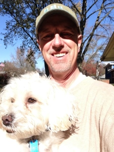 Chuck the Dog is a steady companion. We've covered more than 250 miles in our walks.