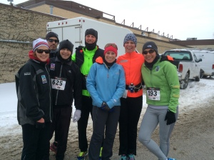 Our posse dressed for action in 16 degree weather with a wind chill below zero.