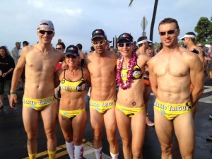 A team of athletes demonstrating why Republicans are so concerned about gender issues and running and riding.