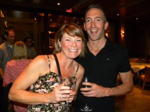 Sarah with friend and training companion Kurt Woodward at an ET function