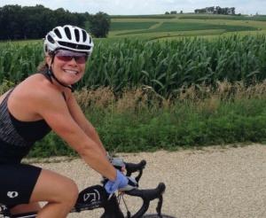Sarah Cropped On Bike