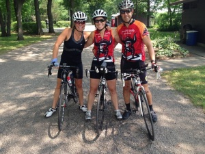 Pre-ride photo with friends Jada Butler and Russ Bautch