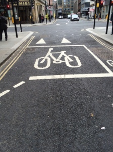 In London bikes have the right of way.
