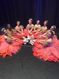 Victorial with dancers