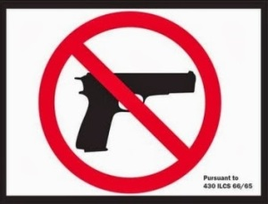 chicago no guns sign