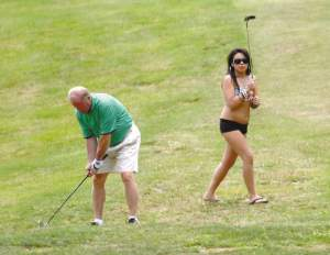 Strippers on golf course